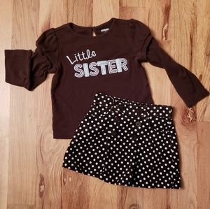 NWOT Gymboree Little Sister Skirt Set